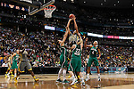 03 APR 2012:  Brittney Griner (42) of Baylor University shoots over Natalie Achonwa (11) of the University of Notre Dame during the Division I Women's Basketball Championship held at the Pepsi Center in Denver, CO.  Jamie Schwaberow/NCAA Photos