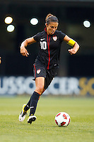14 MAY 2011: USA Women's National Team midfielder Carli Lloyd (10) during the International Friendly soccer match between Japan WNT vs USA WNT at Crew Stadium in Columbus, Ohio.