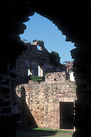 Ruins of Santo Domingo Church and Convent in the Casco Viejo district of Panama City, Panama