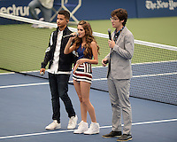 FLUSHING NY- AUGUST 27: Laura Marano, Joey Bragg, Jordan Fisher  during Arthur Ashe kids day at the USTA Billie Jean King National Tennis Center on August 27, 2016 in Flushing Queens. Photo byMPI04 / MediaPunch