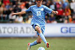 13 November 2011: North Carolina's Rob Lovejoy (25). The University of North Carolina Tar Heels defeated the Boston College Eagles 3-1 at WakeMed Stadium in Cary, North Carolina in the Atlantic Coast Conference Men's Soccer Tournament championship game.