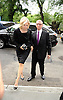 Diane Sawyer and Mike Nichols attends Marvin Hamlisch's funeral on August 14, 2012 .at Temple Emanuel in New York City.