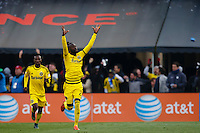 Columbus, Ohio. - Sunday, December 6, 2015: The Columbus Crew and the Portland Timbers during the 2015 MLS (Major League Soccer) Cup Championship at Mapfre stadium.
