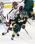Patrick Brown (BC - 23), H.T. Lenz (UVM - 11) - The Boston College Eagles defeated the University of Vermont Catamounts 4-1 on Friday, February 1, 2013, at Kelley Rink in Conte Forum in Chestnut Hill, Massachusetts.