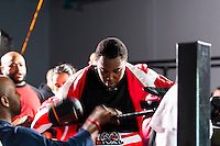 October 13, 2012, Delran, New Jersey, USA: Derek Frazier in his corner after fighting Geraldo Rios for the MTV reality show Made at It's On Boxing/MMA.