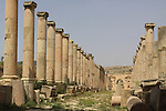 Cardo Maximus street north gate in Jerash