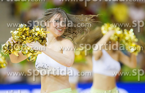 Cheerleaders Ladies perform during basketball match between National teams of Georgia and Slovenia in Round 1 at Day 4 of Eurobasket 2013 on September 7, 2013 in Arena Zlatorog, Celje, Slovenia. (Photo by Vid Ponikvar / Sportida.com)