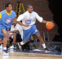 1/2G Elliot Williams (Collierville, TN / St. Georges) moves the ball during the NBA Top 100 Camp held Thursday June 21, 2007 at the John Paul Jones arena in Charlottesville, Va. (Photo/Andrew Shurtleff)