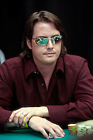 28 February 2009:  Celebrity player wearing reflective sunglasses during the 7th Annual WPT World Poker Tour Invitational at the Commerce Casino in Los Angeles, CA. Players compete for poker glory and a  piece of the $200,000 prize pool. Celebrity and Pro card players in action.