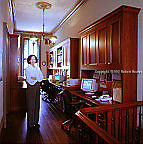 Elizabeth Colton and her home office: Executive portrait photographs by San Francisco - corporate and annual report - photographer Robert Houser.
