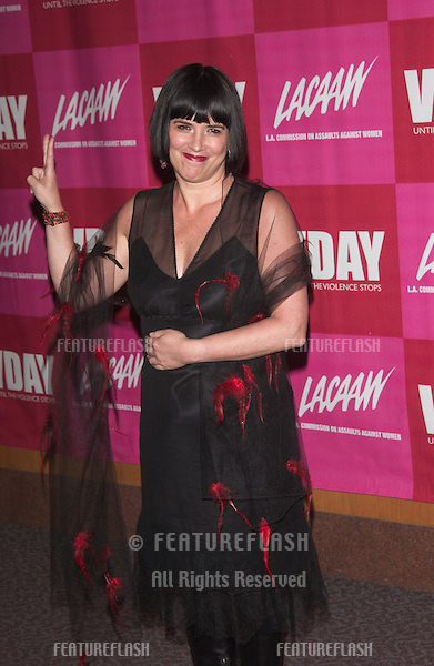 Vagina Monologues writer EVE ENSLER at the V-Day LA 2003 Benefit at the Directors Guild Theatre, West Hollywood. The event benefited V-Day and The Los Angeles Commission on Assaults Against Women.