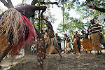 Indigenous dancers from the Aurukun community performing at the Laura Aboriginal Dance Festival.  Laura, Queensland, Australia