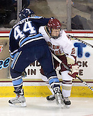 Ryan Hegarty (Maine - 44), Tommy Atkinson (BC - 28) - The Boston College Eagles defeated the visiting University of Maine Black Bears 4-0 on Friday, November 19, 2010, at Conte Forum in Chestnut Hill, Massachusetts.