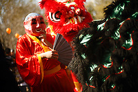 Traditional Vietnamese dancers perform during an Asian New Year festival, Sunday, Jan. 25, 2009, at Lien Hoa Vietnamese Buddhist temple in San Antonio. (Darren Abate/pressphotointl.com)