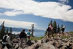 Hiking the Tahoe Rim Trail near Brockway Summit, North Lake Tahoe