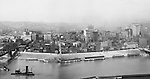 Pittsburgh PA - View of the city of Pittsburgh from Mt Washington - 1905.  View of the Pittsburgh skyline, featuring the Henry Oliver and Frick buildings.