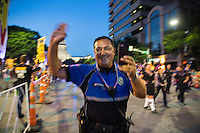 Austin, Texas - Austin Police Chief Art Acevedo greets the crowds at the Austin PRIDE Parade on Saturday, Aug. 27, 2016.<br /> <br /> Use of this image in advertising or for promotional purposes is prohibited.<br /> <br /> Editorial Credit: Dan Herron / Herronstock Editorial.