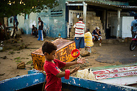 In the colonial village of Adícora on Venezuela's Paraguaná Peninsula, Dec. 12, 2015. The remote desert peninsula in the Caribbean Sea lays bare the effects of Venezuela's politicized economy after 17 years under Hugo Chavez and successor Nicolas Maduro.