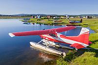 Bush planes at the small plane float pond, Fairbanks, Alaska