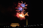 Fireworks light up DC on July 4, 2010.