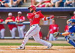 3 March 2016: Washington Nationals catcher Jhonatan Solano in action during a Spring Training pre-season game against the New York Mets at Space Coast Stadium in Viera, Florida. The Nationals defeated the Mets 9-4 in Grapefruit League play. Mandatory Credit: Ed Wolfstein Photo *** RAW (NEF) Image File Available ***