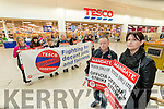 Tesco workers on strike at Manor West Shopping Centre on Tuesday.