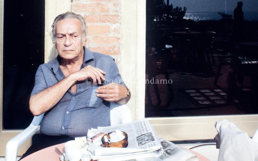"Renato Guttuso, Hotel EXcelsior lido "" Venezia "" 1983. © Leonardo Cendamo"
