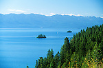A sailboat on Flathead Lake in western Montana