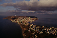 An aerial view of the ancient port of Sinop.