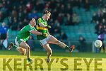 Tom O'Sullivan  Kerry in action against Peter Nash Limerick in the Final of the McGrath Cup at the Gaelic Grounds on Sunday.