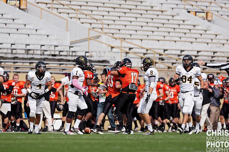 10/22/11 - Kalamazoo, MI: Kalamazoo College football vs Adrian - Homecoming game.  Adrian won 52-21.  Photo by Chris McGuire.