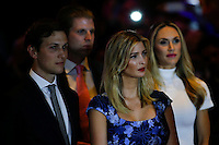 NEW YORK, NY - MAY 3 : (L-R) Jared Kushner, Eric Frederick Trump, Ivanka Marie Trump and Lara Yunaska listen to U.S. Republican presidential candidate Donald Trump as he gives his post-election remarks on May 3, 2016 in Manhattan, New York. Front-running Republican candidate Trump won Indiana's Republican primary, moving him closer to claiming the party's nomination. Photo by VIEWpress