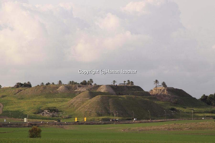 Israel, Jezreel valley, Tel Megiddo, a World Heritage Site.