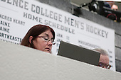 """Nancy Marrapese-Burrell of the Boston Globe and John """"Jocko"""" Connolly of the Boston Herald - The Providence College Friars tied the visiting Boston College Eagles 3-3 on Friday, December 7, 2012, at Schneider Arena in Providence, Rhode Island."""