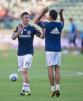 CARSON, CA – August 20, 2011: LA Galaxy forward Robbie Keane (14) before the match between LA Galaxy and San Jose Earthquakes at the Home Depot Center in Carson, California. Final score LA Galaxy 2, San Jose Earthquakes 0.