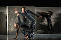 London, UK. 24.04.2013. Eastman - Sidi Larbi Cherkaoui brings PUZ/ZLE to Sadler's Wells. Dancers are: Navala Chaudhari, Leif Federico Firnhaber, Damien Fournier, Ben Fury, Louise Michel Jackson, Kazutomi Kozuki, Sang-Hun Lee, Shintaro Oue, Valgerdur Runarsdottir, Helder Seabra, Michael Watts. Photograph © Jane Hobson.