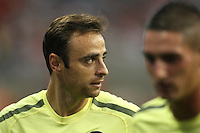 Dimitar Berbatov #9 of Manchester United during the 2010 MLS All-Star match against the MLS All-Stars at Reliant Stadium, on July 28 2010, in Houston, Texas. ManU won 5-2.