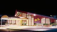 Schuman's All Star Restaurant at night. Wildwood NJ 1960's