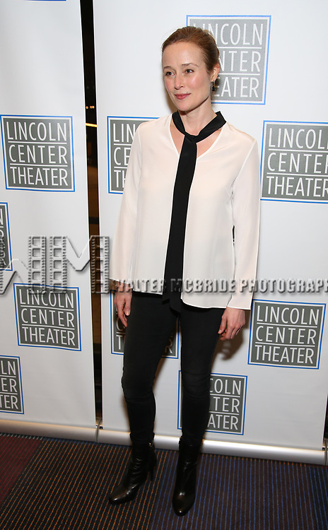 Jennifer Ehle attends the Opening Night Performance press reception for the Lincoln Center Theater production of 'Oslo' at the Vivian Beaumont Theater on April 13, 2017 in New York City.