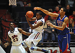 Mississippi's Jarvis Summers(32) grabs a rebound in front of Mississippi's Reginald Buckner (23) and SMU's Cannen Cunningham (15) at the C.M. &quot;Tad&quot; Smith Coliseum in Oxford, Miss. on Tuesday, January 3, 2012. (AP Photo/Oxford Eagle, Bruce Newman)