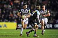 Ollie Devoto  of Bath Rugby in possession. Aviva Premiership match, between Harlequins and Bath Rugby on March 11, 2016 at the Twickenham Stoop in London, England. Photo by: Patrick Khachfe / Onside Images