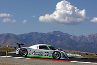 The #59 Porsche Riley of JC France and Joao Barbosa is shown in action during practice for the Grand-Am Rolex series race at Miller Morosports Park in Tooele, UT on Friday, September 18, 2009.  (Photo by Brian Cleary/www.bcpix.com)