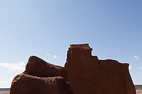 abstraction of an adobe structure at Fort Union National Monument in New Mexico