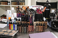 Kett Cosmetics products displayed at the Makeup Show NYC, in the Metropolitan Pavilion, May 15 2011.