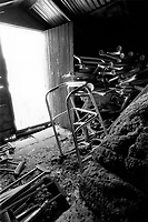 Over 200 crutches left by people who attribute their regained health to the Santuario are piled in the attic of the church. Caretaker George Chavez said there is no room for them anywhere else.