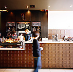 One of Stumptown Coffee's coffee shops, famed coffee producer in Portland, Oregon, is located adjacent to the Ace hotel in downtown Portland.