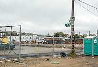 Washington D.C. - October 1, 2016: Former intersection of Half and R. Buzzards Point area in Southwest Washington D.C. cleared for construction of the new soccer stadium for D.C. United scheduled to open in 2018.