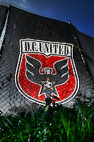 WASHINGTON, DC - NOVEMBER 14, 2012: Emblem of DC United during a practice session before the second leg of the Eastern Conference Championship at DC United practice field, in Washington, DC on November 14.