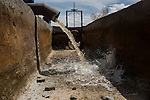 LA MESA, NM - APRIL 10, 2015:  A partially collapsed well is repaired enough to get some water flow on Phil Archer's farm. Archer will have to replace the well soon, one of two on his farm. CREDIT: Max Whittaker for The New York Times