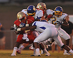 Oxford High vs. Lafayette High's Demarkous Dennis (5) at William L. Buford Stadium in Oxford, Miss. on Friday, September 2, 2011. Lafayette won 40-12